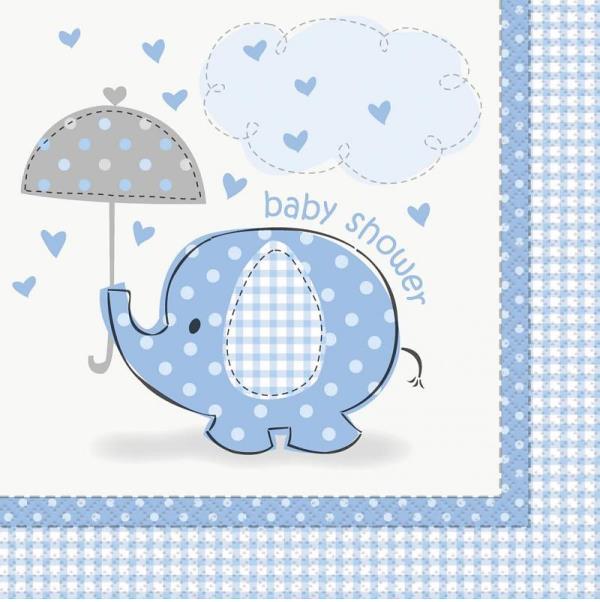 Servetten babyshower blauw