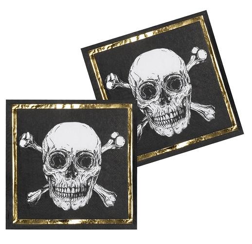Servetten golden pirate 12 stuks