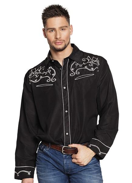 Shirt Western zwart - M