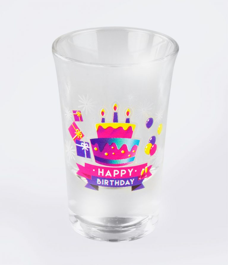 Shotglazen happy birthday 6st
