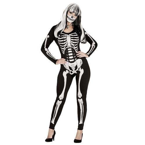 Skelet jumpsuit dames - M 38-40