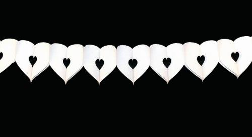 Slinger hart klein wit