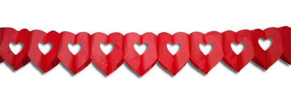 Slinger hart rood groot 6 meter