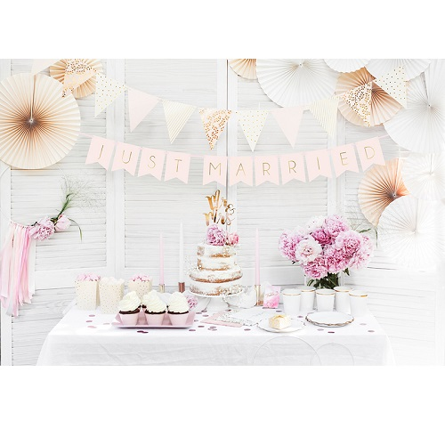 Slinger just married licht roze 155cm
