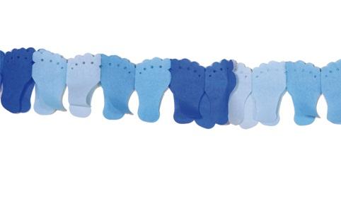 Slinger voetjes blauw 6m