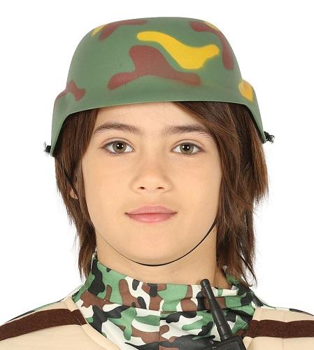 Soldaten helm kind camouflage