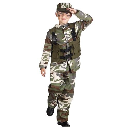 Soldatenpak met vest - 10-12 jaar