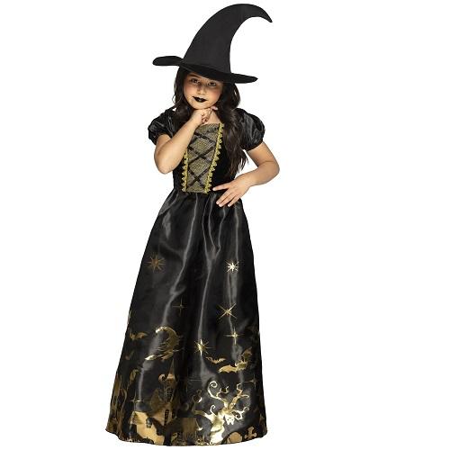 Spooky witch jurkje 10-12 jaar