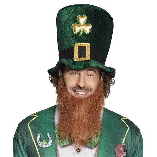 St Patrick Leprechaun hoed met baard