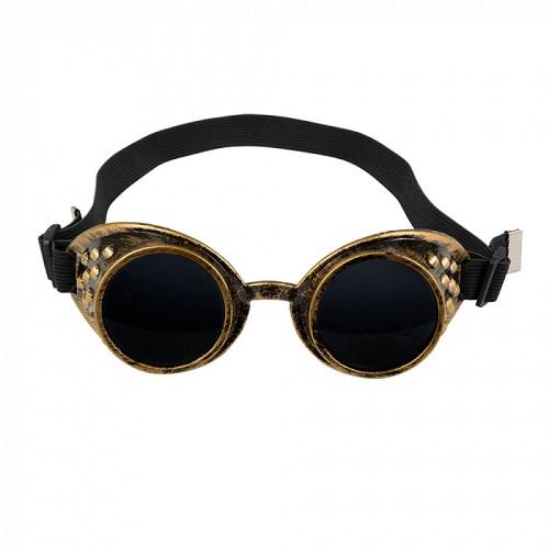 Steampunk bril brons