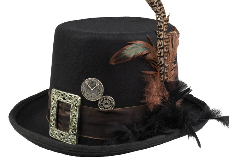 Steampunk hoed Plumepunk