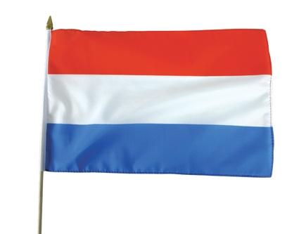 Stoffen zwaaivlag Nederland 30x45cm