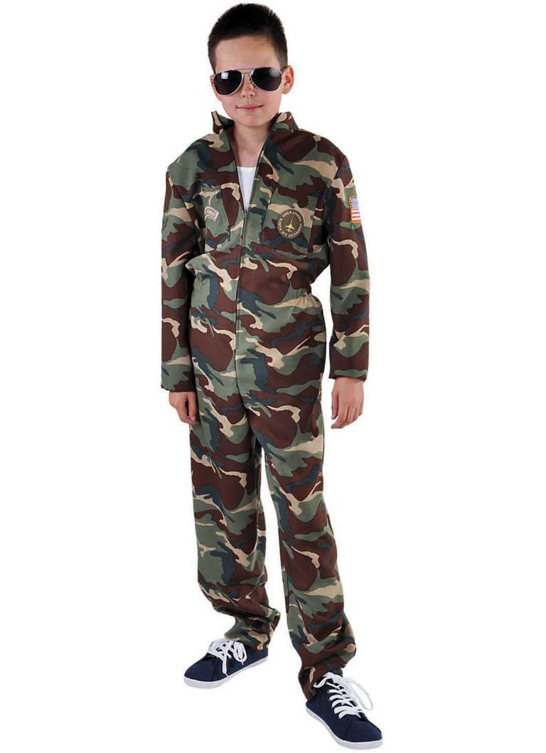 Straaljagerpiloot legerprint kids - 140