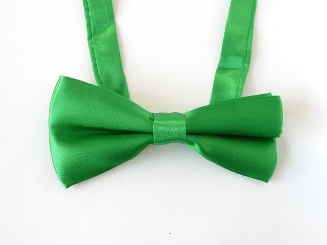 Strik satijn groen