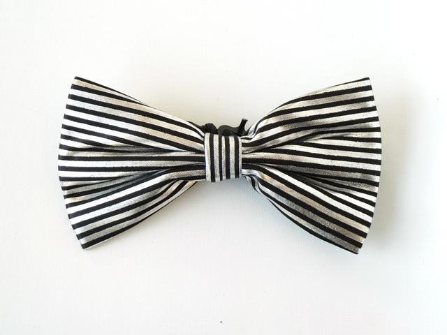 Strik zilver/zwart streep