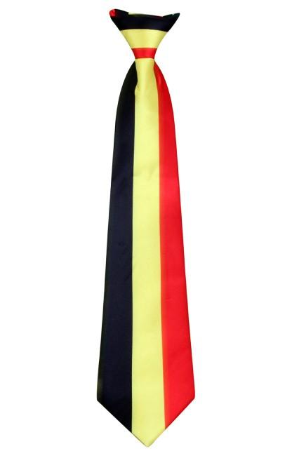 Stropdas satijn Belgische vlag