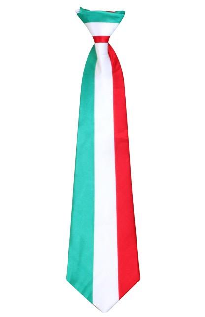 Stropdas satijn Italiaanse vlag