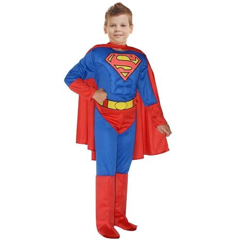 Superman kostuum muscle chest kind - 10-12 jaar