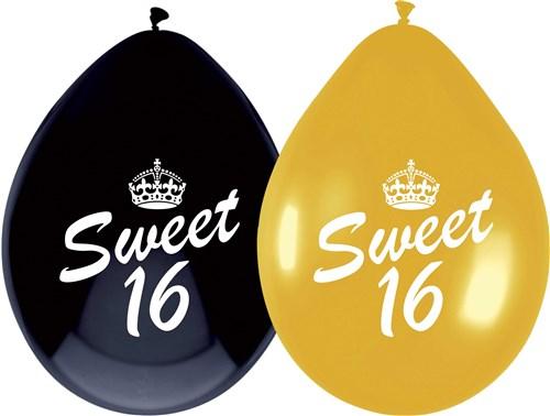 Sweet 16 ballonnen gold