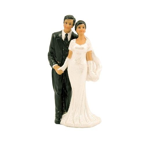 Taarttopper bruidspaar donkere huidskleur