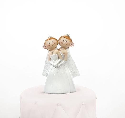Taarttopper bruidspaar twee bruiden