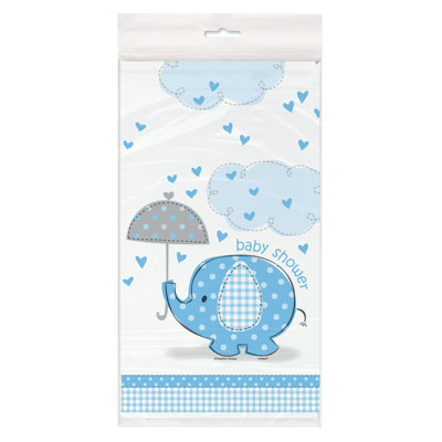 Tafelkleed baby shower blue