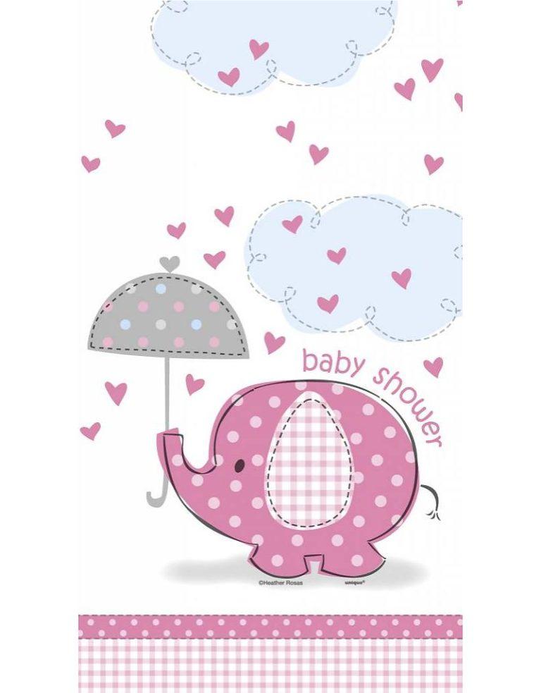 Tafelkleed baby shower pink