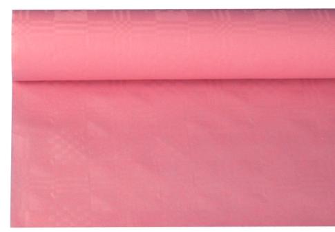 Tafelkleed damast licht roze 8m