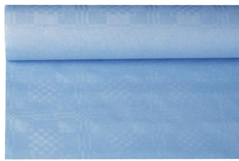 Tafelkleed papier damastprint licht blauw 8m