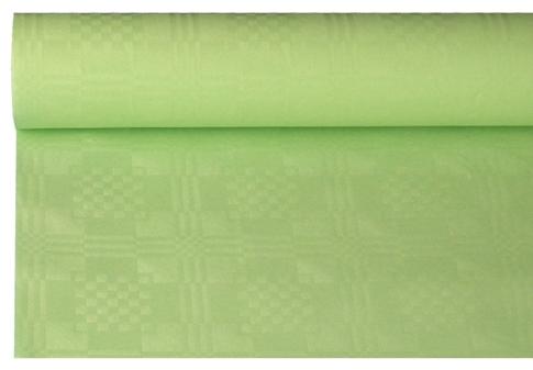 Tafelkleed papier damastprint licht groen 8m