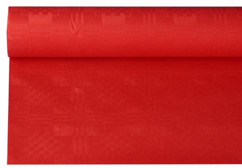 Tafelkleed papier damastprint rood 8m