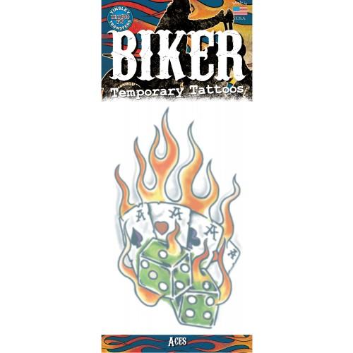 Tatoeage biker tattoo aces