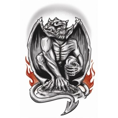 Tatoeage goth tattoo gargoyle