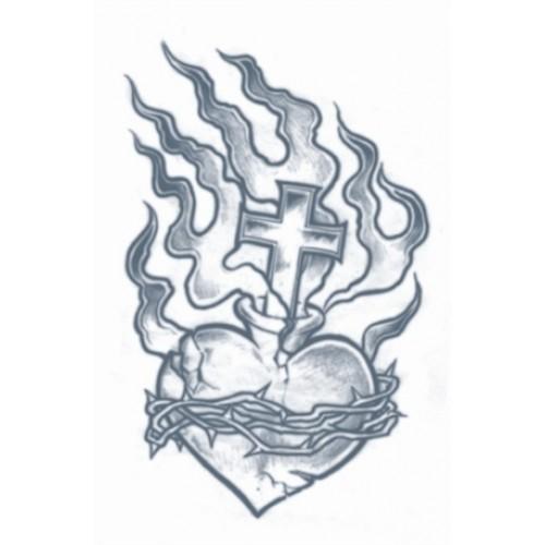 Tatoeage prison tattoo heart