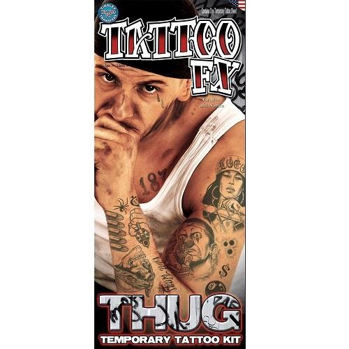 Tatoeage set Thug 13-dlg