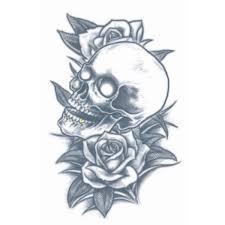 Tatoeage skull en roses