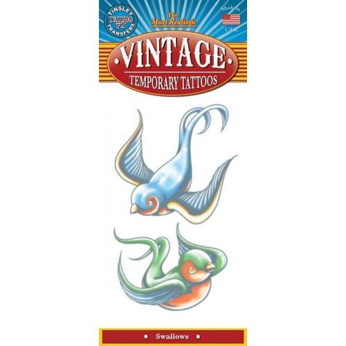 Tatoeage Vintage tattoo Swallows