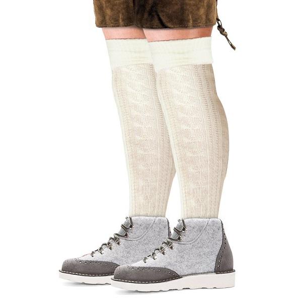Tiroler sokken heren ecru