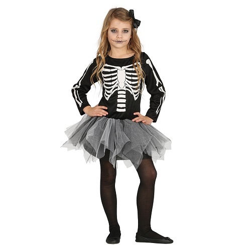 Tutu skelet jurkje kind 10-12 jaar