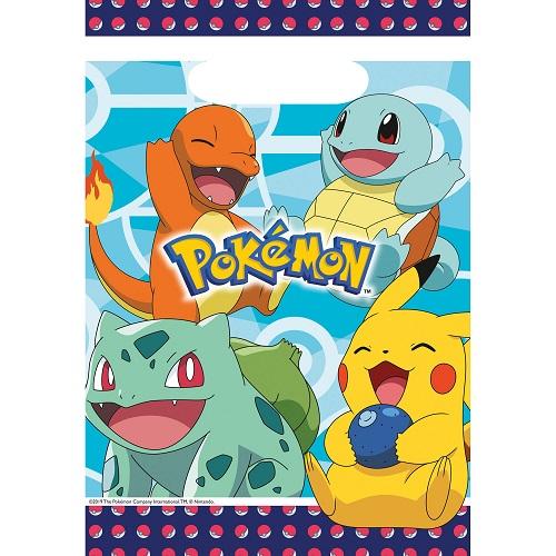 Uitdeelzakjes Pokemon 8st