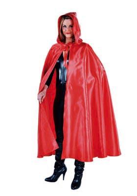 Venetiaanse cape met capuchon rood