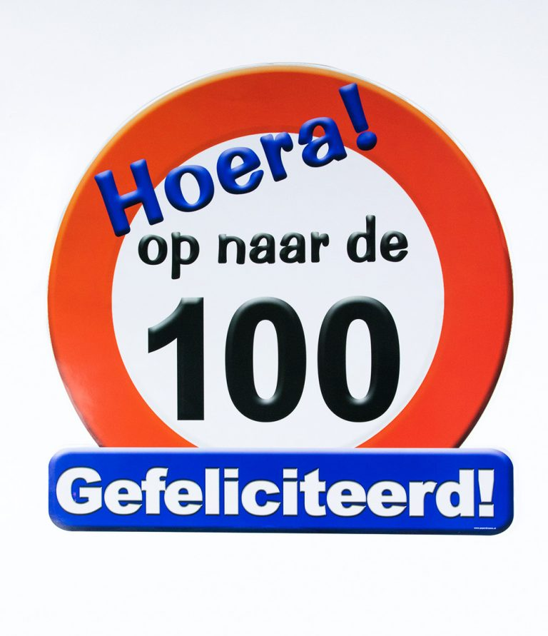 Verkeersbord op naar de 100