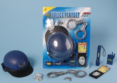 Verkleedset politie helm