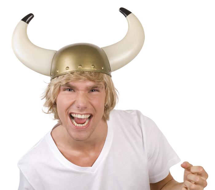 Viking helm Gudrik goud