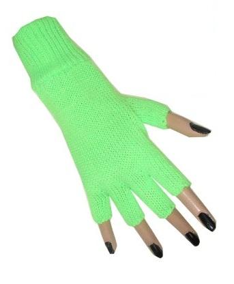 Vingerloze handschoen neon groen