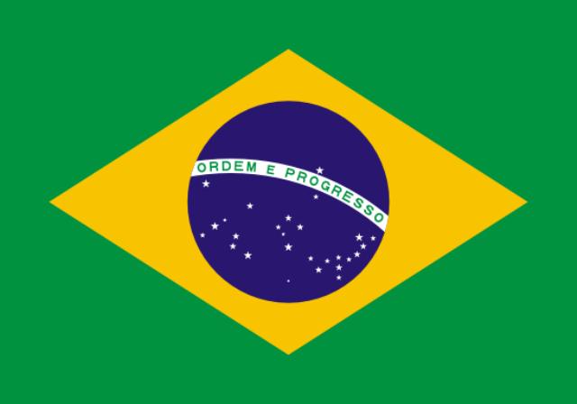 Vlag Brazilie 150x90cm