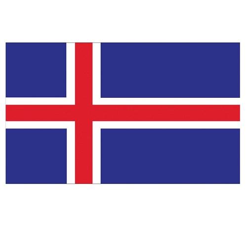 Vlag IJsland 150x90cm