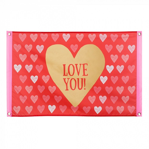 Vlag Love You! 60x90cm