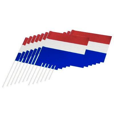 Vlag Nederland met plastic steel 30cm