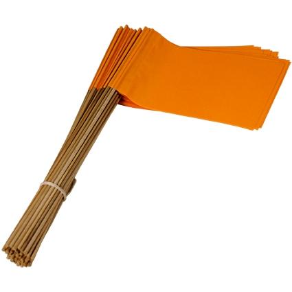Vlag Oranje 30 cm met steel